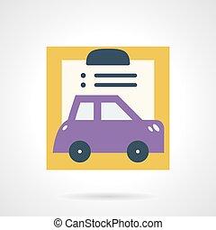 квартира, автомобиль, вектор, документ, страхование, значок
