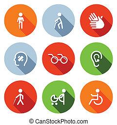 квартира, задавать, disability, icons