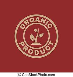 квартира, продукт, экология, органический, eco, symbol., био, icon.