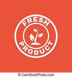 квартира, продукт, экология, eco, symbol., био, свежий, icon.