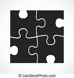 квартира, сравнить, оказание услуг, banner., раздел, puzzle., 4, кусок