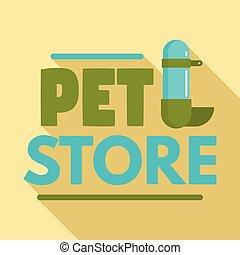 квартира, стиль, домашнее животное, магазин, пьющий, логотип