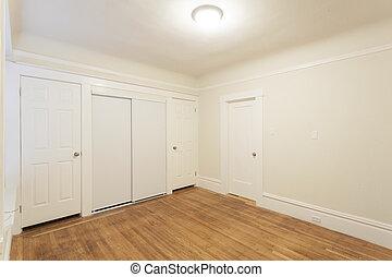 квартира, студия, чистый, пустой, комната