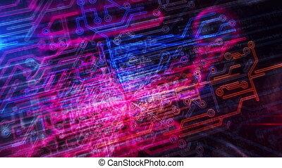 киберпространство, enetry, головной мозг, футуристический,...