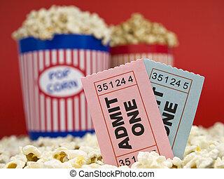 кино, stubs, and, попкорн