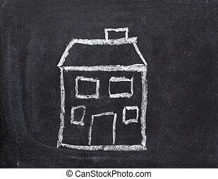классной доски, дом, главная, недвижимость, архитектура, строительство