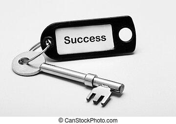 ключ, к, успех