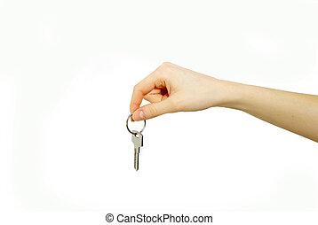 ключ, рука