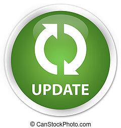 кнопка, зеленый, обновить, значок