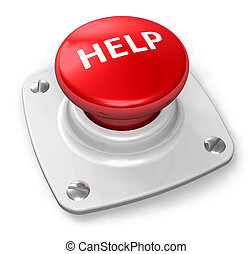 кнопка, помогите, красный