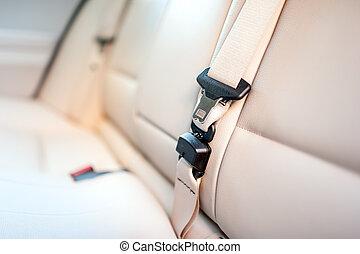 кожа, автомобиль, современное, сиденье, бежевый, интерьер, задний, ремень