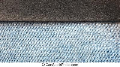 кожа, джинсовый, задний план, полоса