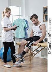 колено, травма, лигамент, после, человек