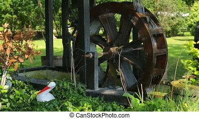 колесо, украшение, воды