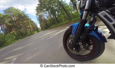 колесо, фронт, мотоцикл, посмотреть, верховая езда