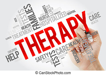 коллаж, терапия, слово, облако, маркер