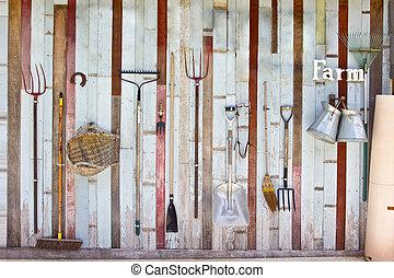 коллекция, сад, оборудование