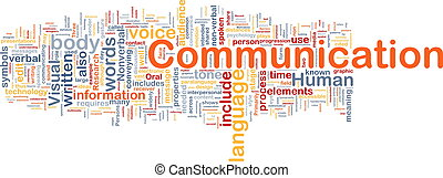 коммуникация, задний план, концепция