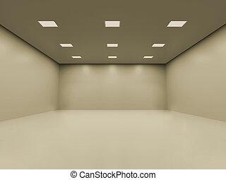 комната, пустой