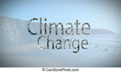 композитный, климат, видео, изменение, цифровой