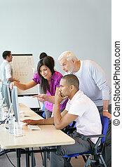 компьютер, бизнес, команда