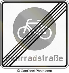 конец, of, велосипед, дорога