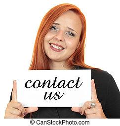 контакт, us., бизнес, женщина
