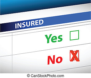 контрольный список, над, выбор, страхование