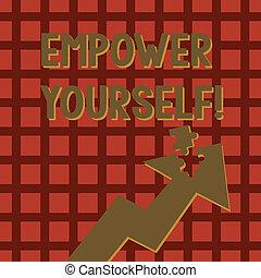 контроль, pointing, фото, головоломка, наш, головоломки, письмо, заметка, настройка, уполномочивать, жизнь, бизнес, показ, piece., часть, goals, принятие, вверх, choices, yourself., стрела, showcasing, изготовление, detached