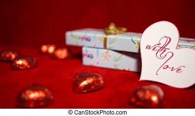 конфеты, день, 4k, подарок, valentine's