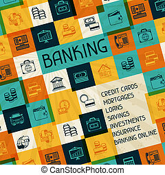 концептуальный, банковское дело, and, бизнес, background.