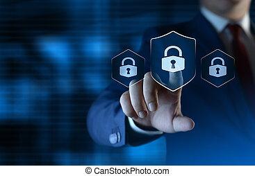 концепция, бизнес, конфиденциальность, технологии, cyber, защита, безопасность, данные
