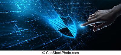концепция, бизнес, конфиденциальность, cyber, защита, безопасность, данные