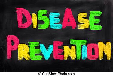 концепция, болезнь, предотвращение