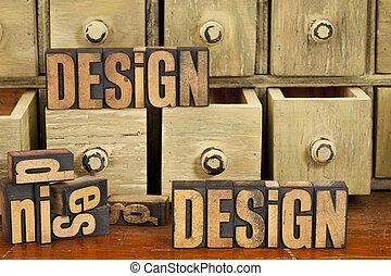 концепция, дизайн, дерево, тип