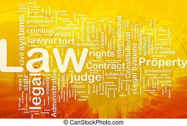 концепция, задний план, закон