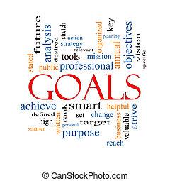 концепция, слово, goals, облако