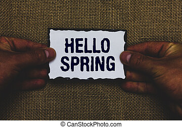 концепция, текст, бумага, зима, черный, держа, borders, spring., время года, после, общаться, ideas., имея в виду, задний план, цветы, джут, человек, welcoming, blossoming, почерк, кусок, здравствуйте