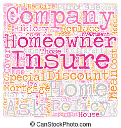 концепция, текст, компания, homeowners, один, как, wordcloud, выберите, задний план, страхование