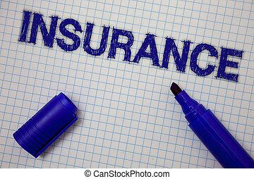 концепция, финансовый, текст, маркер, insurance., открытый, синий, squared, ideas, background., политика, имея в виду, защита, сетка, возмещение, потери, messages, против, или, блокнот, почерк, страница