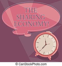 концепция, цвет, текст, photo., economy., пустой, часы, письмо, речь, systems, между, shared, пузырь, sharing, бизнес, services, активы, слово, контур, аварийная сигнализация, думал, individuals, или