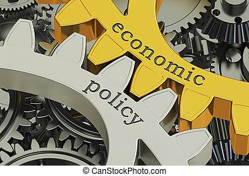 концепция, gearwheels, оказание, экономической, политика, 3d