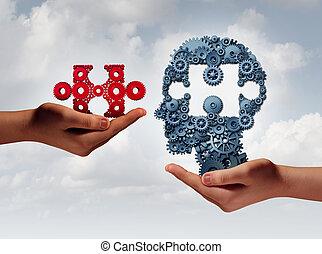 концепция, of, бизнес, обучение