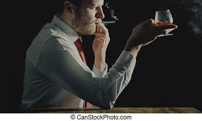 концепция, of, вредный, стиль жизни, от, алкоголик, напиток,...
