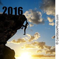 концепция, of, новый, год, 2016