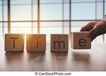 , концепция, of, time.