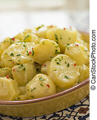 кориандр, чили, allioli, салат, картошка