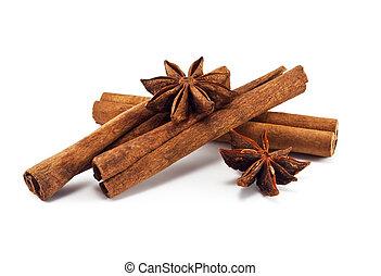корица, sticks, and, анис, число звезд: