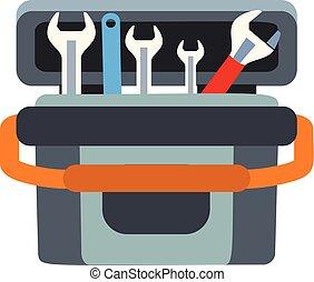 коробка, квартира, стиль, инструмент, ключ, значок