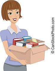 коробка, пожертвование